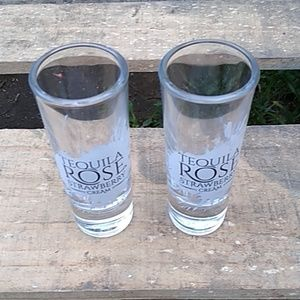 Pair of tequila rose shot glasses